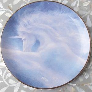 🦄💙 Unicorn Plate Vintage Hamilton Collection 90